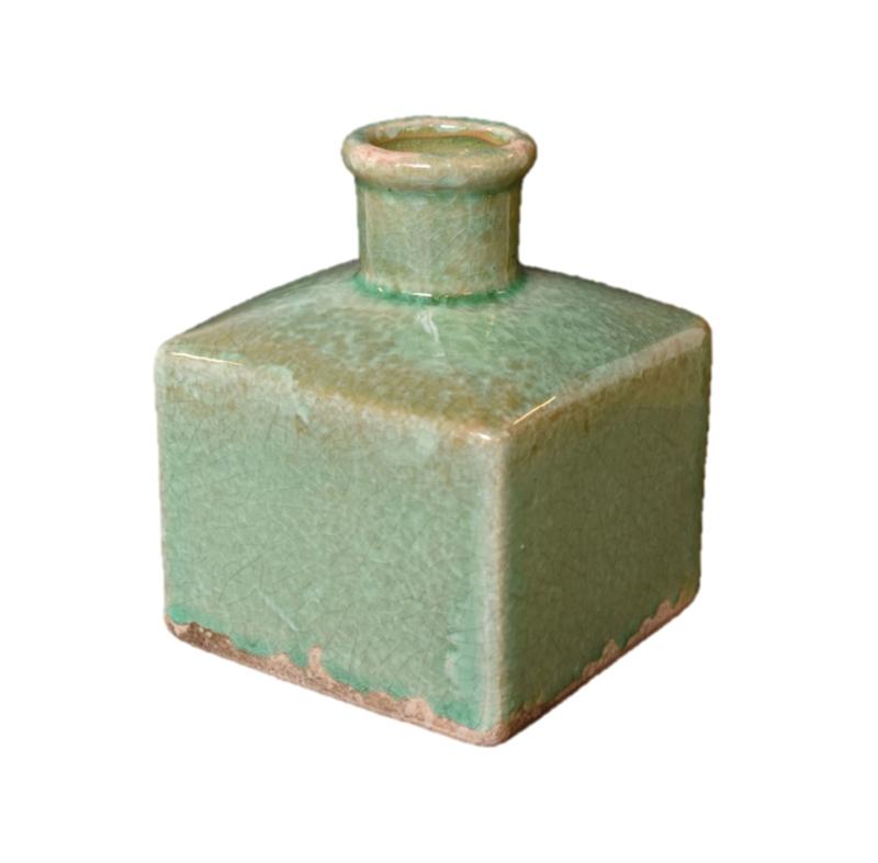 Vaasje vierkant zachtgroen (Brynxz)