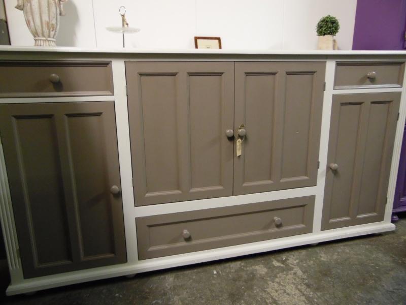 Groot dressoir, wit met grijs 23