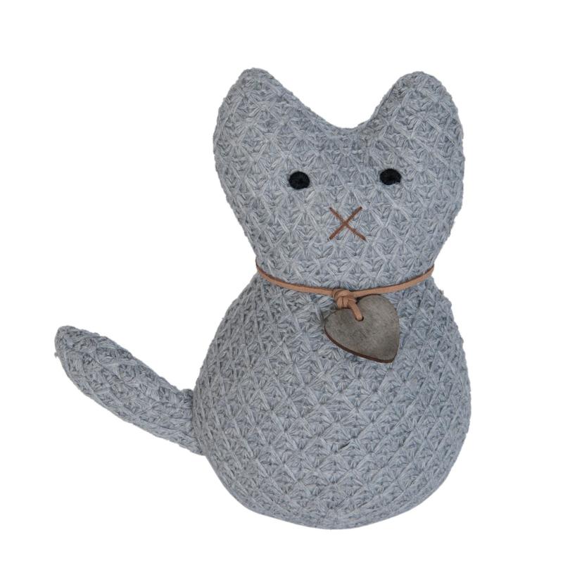Deurstopper zittende kat (Clayre & Eef)