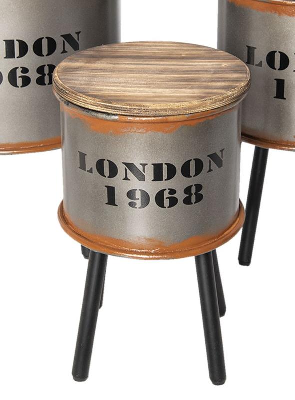 Bijzettafel/opbergton London klein (Clayre & Eef))