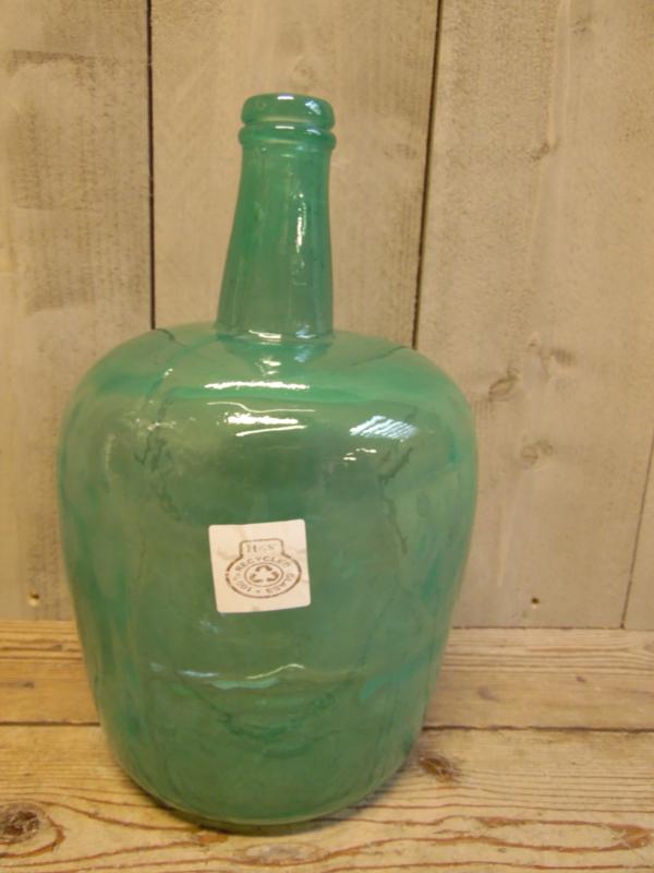 Vaas L  gerecycled glas  zeegroen (Amennis Trading)