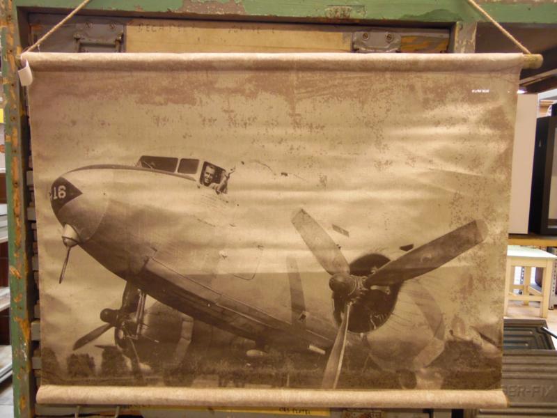 """""""Schoolplaat""""  vliegtuig (RR Design)"""