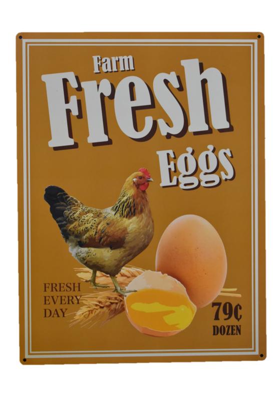 Wandbord kip en ei (Esschert Design)