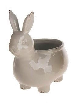 Bloempot konijn lichtgrijs (Dijk Natural Collections)