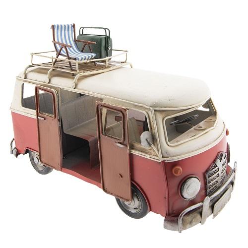 Buscampertje rood Volvo