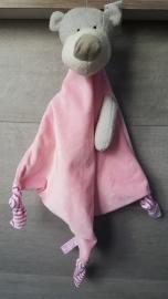 Funnies - knuffeldoek roze groot