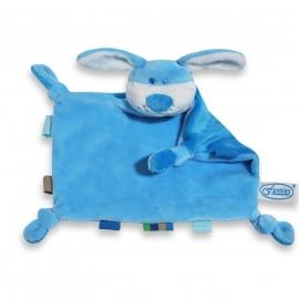 knuffel hond blauw