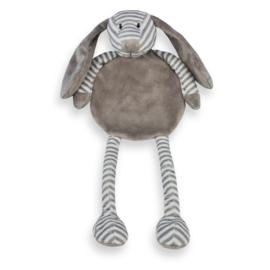 Tutpop hond grijs gestreept