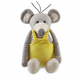 Funnies - muis met gele tuinbroek