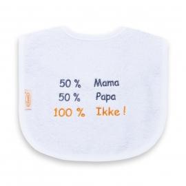 50% mama 50% papa 100% Ikke!
