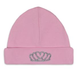 Funnies - mutsje tiara roze