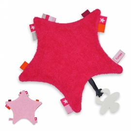 Labeldoek ster roze
