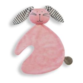 Konijn knuf roze gestreept