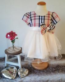 Feest jurk ruit