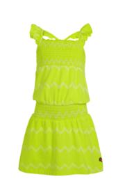 Quapi Dress Alisha - Neon Yellow ZigZag