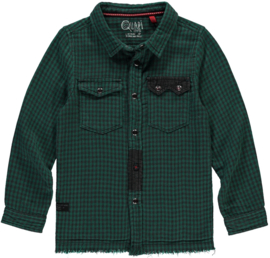 Quapi blouse Tedde - Mid Green Check