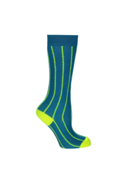 B.Nosy B.Neon Socks with vertical fluo Stripes