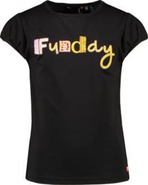 NoNo Meisjes t-shirt 'Funday' Kamsi B - Antraciet