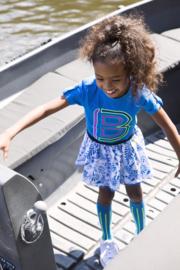 B.Nosy Skirt with Mesh Detail - Delfts Blue