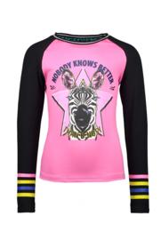 B.Nosy Shirt with Zebra Artwork - Sugar Plum