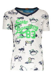 B.Nosy Boys v-neck shirt in africa print Y902-6421