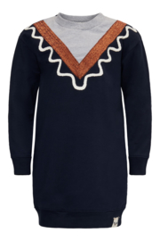 TopItm Dress Daan - Sweat Dark Blue