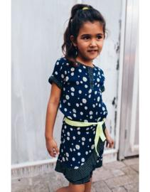 Quapi Dress Ambria - Dark Blue Flower