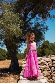 LoFff Maxidress Chiffon Pinks