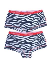 Claesen's Girls 2-Pack Boxer 'Zebra'