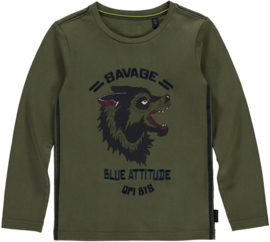 Quapi boys longsleeve Tamon - Army green