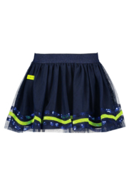 B.Nosy Netting Skirt with Sequince detail - Space Blue