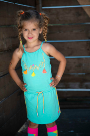 Kidz-Art Dress Sleeveless with waist cord - Mint