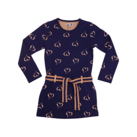 LoFff Easy Dress - Darkblue - Gold