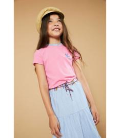 NoNo girls t-shirt rib Kim - Loving Pink