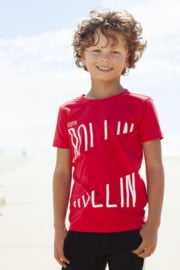 Moodstreet Boys T-Shirt Chestprint - Red