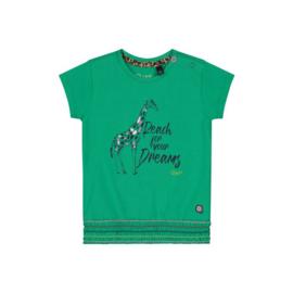 Quapi Baby Girls Shirt Bibe - Jungle Green