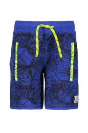 B.Nosy Boys Short, Royal Blue 'Leaves'
