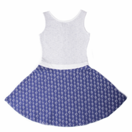 LoFff Sweet Dress Dark Blue-White
