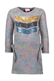 Kidz-Art Rib dress - Multi color foil coating