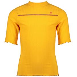 NoNo Meisjes t-shirt rib Kyra - Blazing Oranje
