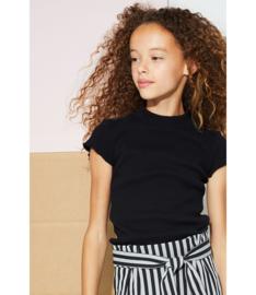 Nobell Girls Shirt rib Kima - Jet Black