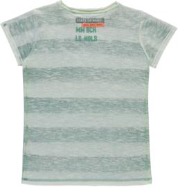Quapi boys shirt Savino 'Arctic Green Stripe'