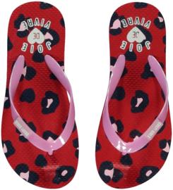 Quapi flipflops Saavi 'Rouge Red Leopard'