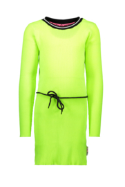 B.Nosy rib dress with elastic in waist - Lime