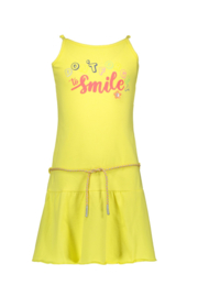Kidz-Art Dress sleeveless with peplum  + waist cord - Yellow