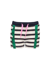 B.Nosy Shorts vertical contrast ruffle - Oxford Stripe