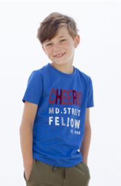 Moodstreet Boys t-Shirt Chestprint - Sporty Blue