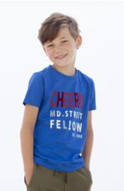 Moodstreet Boys t-Shirt Chestprint - Sporty Blue