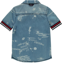 Quapi boys Denim Shirt Senon 'Denim Text'