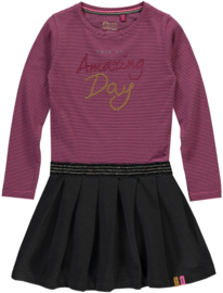 QUAPI DRESS THALISYA - PINK DARK STRIPE